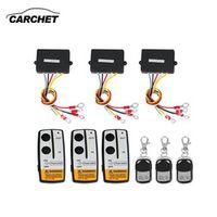 CARCHET Universal 3pcs Wireless Remote Control Kit 12V 50FT For Jeep Truck SUV ATV
