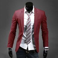 Men's One Button Suits Jacket Blazer Separate Suit Casual Slim Fit Pop Coat New 062