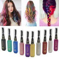 GETHOME Pro Temporary Hair Dye Mascara Non-toxic Mix Salon Stick Hair Color