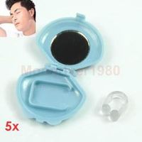 New Silicon Gel Anti Snoring Solution Noise Clip Snore Aid Stopper for Sleep Drop Shipping