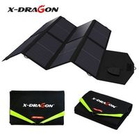 X-DRAGON 5V 12V 18V 40W Portable Solar Panel Charger Charging for iPhone iPad Macbook