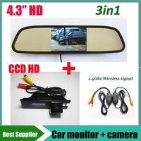 GYT-AUTO 3in1 Monitor 2.4G wireless Car rear view parking camera For Buick Regal Opel