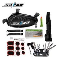 SAHOO 15 in 1 Cycling Bicycle Tools Bike Repair Kit Set with Pouch Pump Black 21255