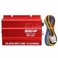 OOTDTY Mini Hi-Fi 500W 2 Channel Stereo Audio Amplifier For Car Auto Motorcycle C45