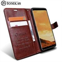 Wallet Case For Samsung Galaxy / TOMKAS PU Leather Flip Phone Bag Cover S8 Plus Cases