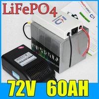 FGHGF 72V Golf Battery Pack 60AH LiFePO4 Long life 4000W Electric bicycle Scooter