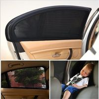 Tirol 2pcs/set Adjustable Auto Side Rear Window Sun Shade Black Mesh Car Cover Visor