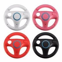 Hot ! New Plastic Steering Wheel For Nintendo for Wii Mario Kart Racing Games Remote Controller Console