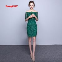 DongCMY WT2098 short elegant medium lace Cocktail Dress