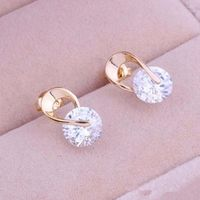 TOMTOSH new earrings women jewelry gifts gold and silver crystal earrings for ladies decoration
