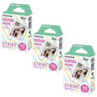 Fujifilm Instax Mini 8 Film Stripe Frame 30pcs For Mini 300 7s 7 50s 50i 90 25 dw