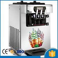 220V / 110V of 3 flavors mini commercial table top ice cream making machine soft serve ice cream machine
