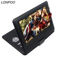 LONPOO 10.1 inch Portable TFT LCD Screen Multi media DVD Player With car charger game