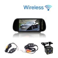 KUNFINE Styling Wireless 7 inch TFT LCD Screen Car Rear View Monitor Display