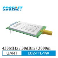 1pc 433MHz Long Range E62-TTL-1W Full Duplex TDD FHSS FEC Wireless rf Module 1W UART 433 mhz rf Transmitter and Receiver Module