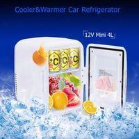 Excelvan 4L Mini Car Refrigerator 12V ABS Cooler Warmer Heating Food Travel Fridge