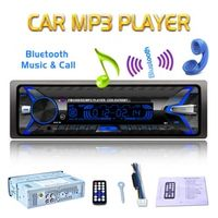 KONNWEI 12V 1 Din Bluetooth Car Radio Audio Stereo MP3 Player 7 Color Light Front