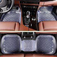 SHIDWJ 5Pcs/set Transparent PVC Car Floor Mats Environmental Universal Foot Pad