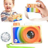 Peradix Kaleidoscope Lens Wooden Camera Pretending Toys
