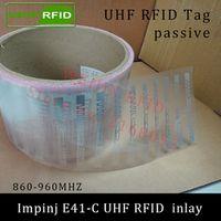 UHF RFID tag Impinj E41-C dry inlay 915mhz 900mhz868mhz 860-960MHZ Higgs3 EPCC1G2 ISO18000-6C smart card passive RFID tags label