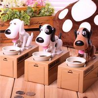 Strange new product ideas toy dog eat money dog piggy bank to steal money cat piggy bank for children birthday gift