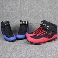 Genuine VeriSign wrestling shoes red and black wrestle training shoes tendon at the end spots boxing boots