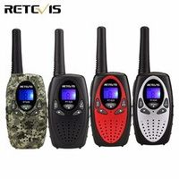 2pcs 4 color Mini Walkie Talkie Kids Radio RETEVIS RT628 0.5W UHF Frequency Portable Hf Transceiver Ham Radio Kids gift A1026B