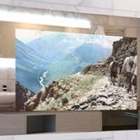 "AVEL 32"" Magic Mirror Waterproof TV For Living Room Bathroom / Kitchen NTSC PAL SECAM"