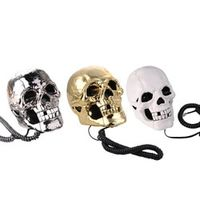 SOUTH SUNNY 3 Color Skeleton Skull Head Home Desk Telephone Flashing Eyes Corded 1PCS