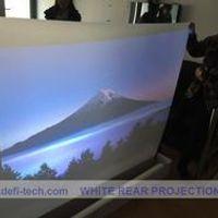 DfLabs 1.524 m * 9 m white / milkwhite color rear projection film/foil