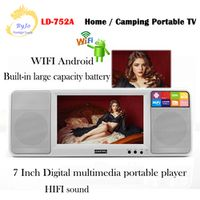 LEADSTAR 7 inch HD 1080P LED HIFI dual loudspeaker mini TV media player Support