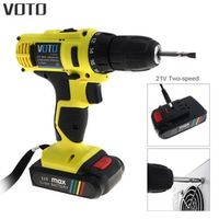 VOTO 21V Household Multi-function Electric Screwdriver Double Speed Lithium Cordless