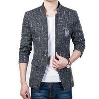 2016 New Arrival Men Blazer Male Formal Fashion Casual Suit Jacket Slim Fit Blazers Jackets 4 Colors Plus Size M-5XL Outwear