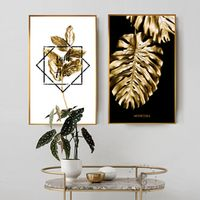 Black and Gold Pineapple Painting Poster Print Modern