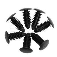 wupp New 20Pcs Black Plastic Rivets Fasteners 7mm Dia Hole for Car Auto Bumper Fender