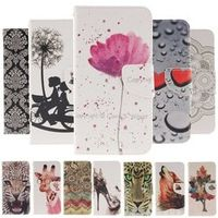 Case for Sony Z5 Compact Fashion Pattern PU Leather Case For Coque Sony Xperia Z5 Compact Z5 Mini  Flip Cover Wallet Phone Cases