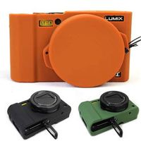 Nice Protective Body Cover Case for Panasonic Lumix LX10 Soft Silicone Camera Bag for Panasonic Lumix L-X10 with Rubber Lens Cap