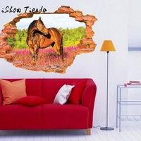 ISHOWTIENDA 3D Wall Sticker Pattern Wall Decals For Kids