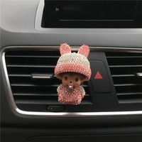 Hazy beauty Bunny hat Diamond Air conditioning outlet perfume Air Freshener In car