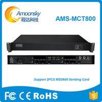 Amoonsky MCT800 nova sender box can install 2 pcs msd600 sending card for led big