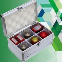 Aluminum alloy with a seal seal box 6 cell portable seal box trumpet accounting supplies seal box