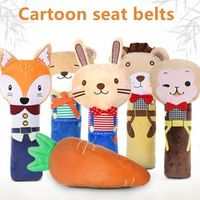 cute children Three-dimensional Cartoon car interior decoration safety belt shoulder pads used four seasons  Travel sleep artifa