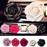 JINHF 1 Pcs Camellia Flower outlet perfume air freshener vent car styling