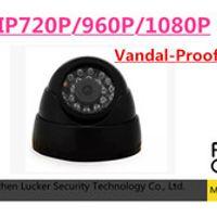 Luckertech 720P/960P/1080P 1.0/1.3/2.0 Mega Pixel 24PCS IR Leds ONVIF Indoor IR-CUT Night VISION P2P IP Dome POE Audio Camera