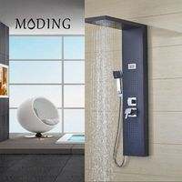 MODING Body Massage System Thermostatic Shower Column Set Three Handles Temperature Display Shower Panel #MD8001