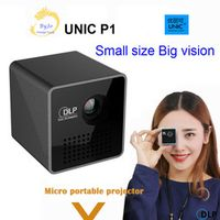 UNIC Original P1 Mobile Pocket Home Movie Projector Proyector Beamer Battery