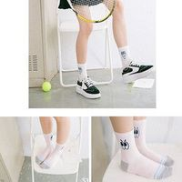 Women Cartoon kawaii cotton socks college style Japan Emoji Eye socks smart soft sister brand happy Harajuku student simple sock