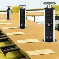 ANDENU Universal Tensile Type Power Tabletop Kitchen Socket with LED 2 USB Port