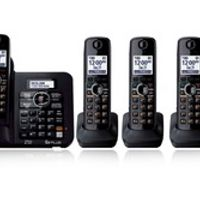 vtelecom 5 Handsets KX-TG6641 DECT 6.0 Digital wireless Black Cordless Phone