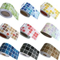 ANGOOGOO 5M Wall Sticker Kitchen Waist Line Tiles Stickers